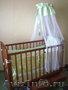 Детская кроватка со всеми комплектующими