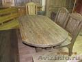 Мебель из состаренного влагостойкого массива сосны