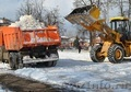 Уборка снега фронтальным погрузчиком